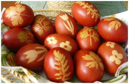 kész hagymahéj festett tojás